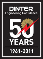 Dinter 50th logo